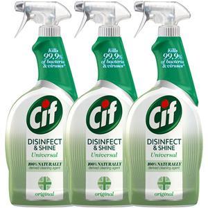 Cif Disinfect & Shine Original Spray Antybakteryjny 3 x 750ml
