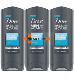 Dove Men Care Clean Comfort Żel Prysznic 3 x 250ml