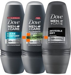 Dove Men+Care MIX Antyperspirant Roll On w Kulce 3 x 50ml