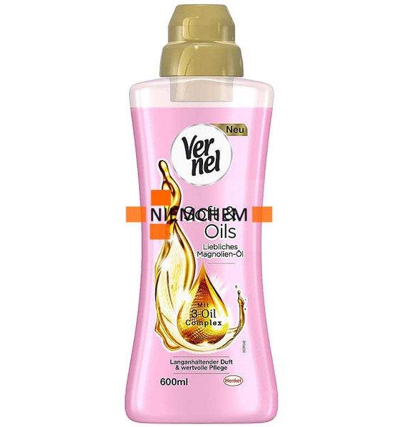 Vernel Soft Oils Magnolia Róża Płyn Płukania 600ml