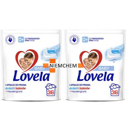 Lovela Baby Hipoalergiczne Kapsułki do Prania dla Dzieci 2 x 36 = 72szt