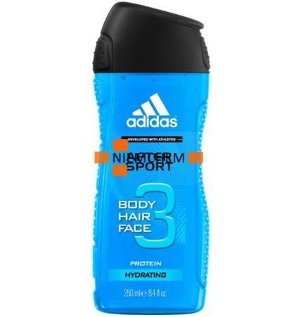 Adidas After Sport 3w1 Męski Żel i Szampon 250ml UK