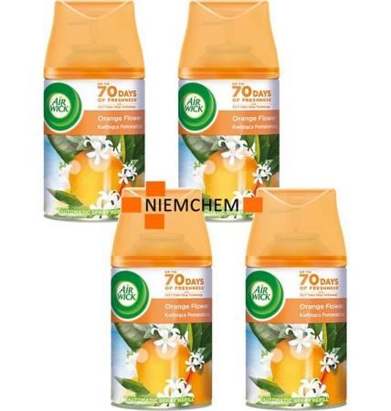 Air Wick Freshmatic Kwitnąca Pomarańcza Odświeżacz 4 x 250ml Wkład