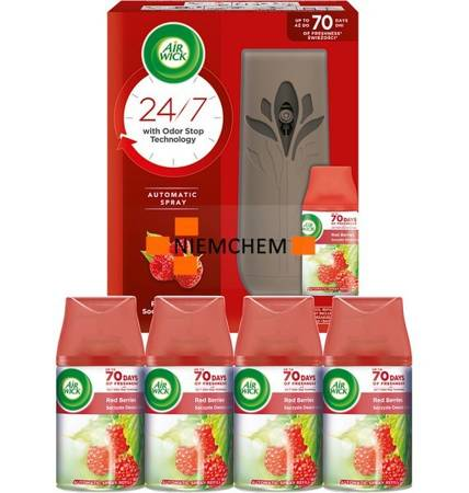 Air Wick  Freshmatic Soczyste Owoce Leśne ZESTAW: Komplet + 4 x Wkład