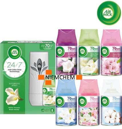 Air Wick Freshmatic Zestaw: Białe Kwiaty Komplet + 6 x Wkład Mix
