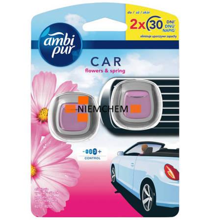 Ambi Pur Car Flower Spring Zapach Samochodowy x 2