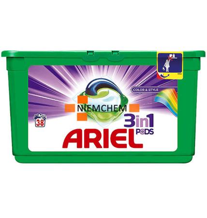 Ariel 3w1 Kolor Kapsułki do Prania 38szt UK