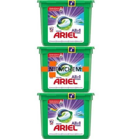 Ariel All-in-1 Color Frühlingsfrische Kapsułki do Prania 3 x 24 = 72szt DE
