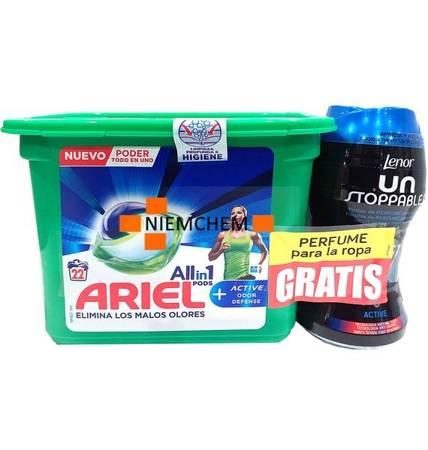 Ariel All in 1 Odor Defense Kapsułki do Prania 22szt Lenor GRATIS ES