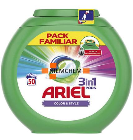Ariel Color Pods Kapsułki Prania Kolor 3w1 50szt ES