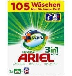 Ariel Universal BOX Kapsułki Prania 3w1 105szt DE WYPRZEDAŻ