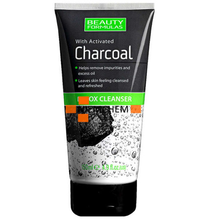 Beauty Formulas Charcoal Detox Węglowy Żel do Mycia Twarzy 150ml UK