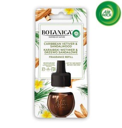 Botanica by Air Wick Electric Odświeżacz Powietrza Karaibski Wetiwer & Drzewo Sandałowe Wkład 19ml