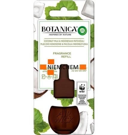 Botanica by Air Wick Electric Odświeżacz Powietrza Mleczko Kokosowe Paczula 19ml