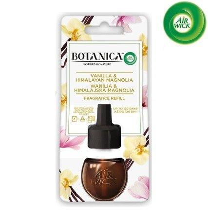 Botanica by Air Wick Electric Odświeżacz Powietrza Wanilia i Himalajska Magnolia Wkład 19ml