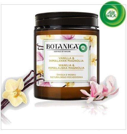 Botanica by Air Wick Wanilia & Himalajska Magnolia Świeczka 205g