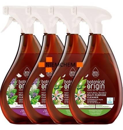 Botanical Origin Uniwersalny Spray Czyszczący MIX 4 x 0,5L
