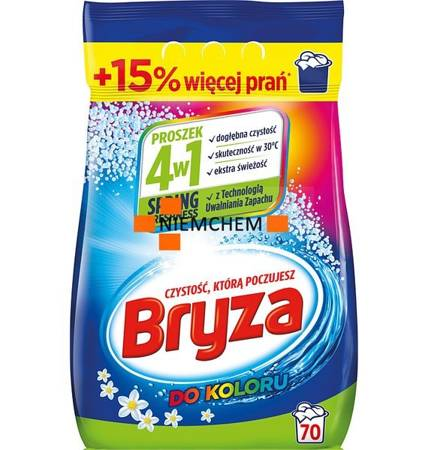 Bryza 4w1 do Koloru Spring Proszek do Prania 70pr 4,55kg