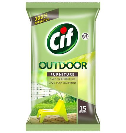 Cif Outdoor Chusteczki do Czyszczenia na Zewnątrz PVC 15szt