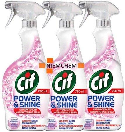 Cif Power Shine Antybakteryjny Spray 3 x 750ml