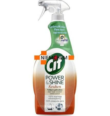 Cif Power & Shine Keuken Spray do Czyszczenia Kuchni 750ml NL