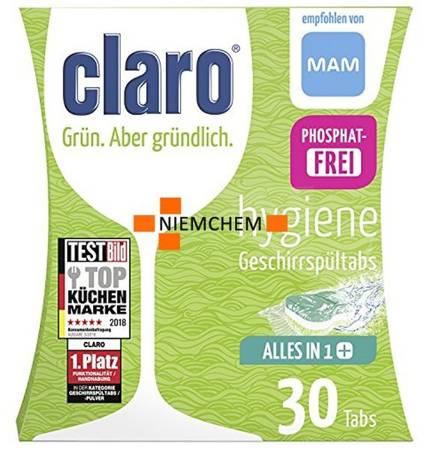 Claro Hygiene All in 1+ Tabletki do Zmywarki 30szt ECO DE