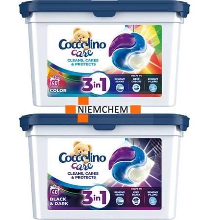 Coccolino Kapsułki do Prania Color Black 2x40= 80szt