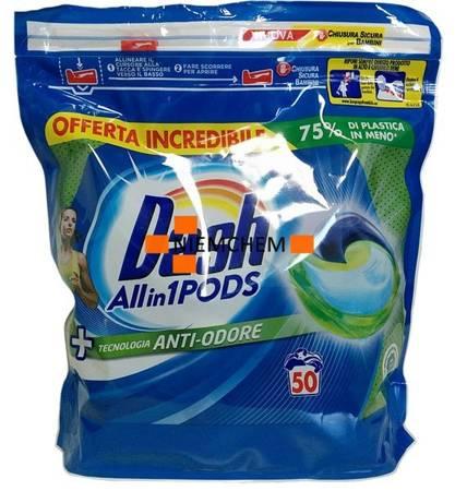 Dash All-in-1  Pods Anti-Odore Kapsułki do Prania 50szt IT