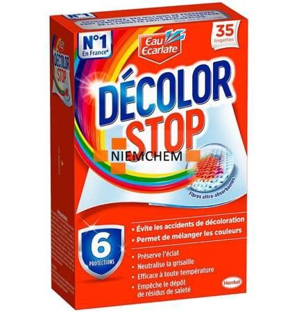 Decolor Stop Chusteczki Wyłapujące Kolor do Prania 35szt FR
