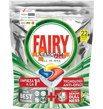 Fairy Platinum Plus Limon Tabletki do Zmywarki 22szt IT