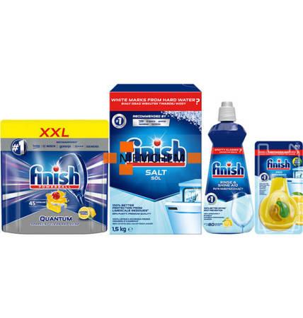 Finish Quantum Lemon 45szt Zestaw: tabletki, sól, nabłyszczacz,zapach