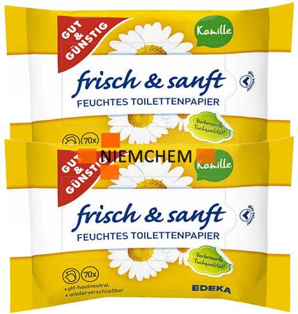 G&G Nawilżany Papier Toaletowy Rumianek 2 x 70 DE