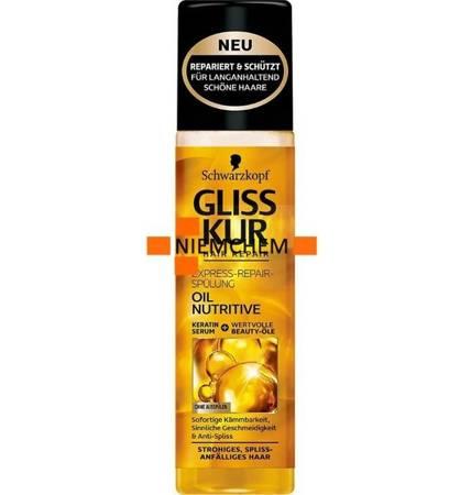 Gliss Kur Oil Nutritive Odżywka Ekspresowa do Włosów 200m DE