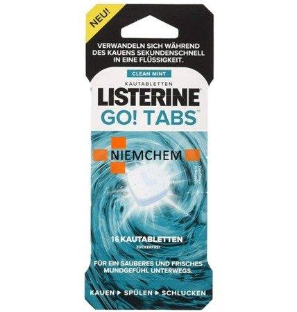 Listerine Go! Tabs Tabletki do Żucia Odświeżające Oddech 16szt DE