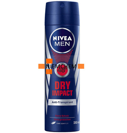 Nivea Men Dry Impact Męski Dezodorant Spray 150ml DE