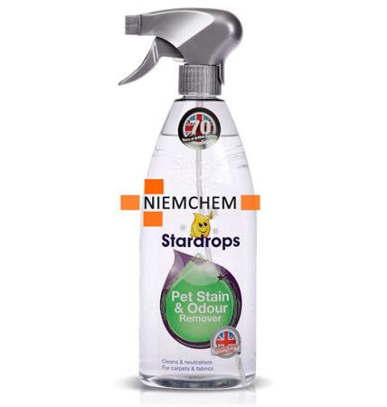 Stardrops Pet Stain & Odour Remover Spray na Zanieczyszczenia po Zwierzętach 750ml UK