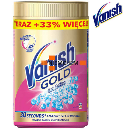 Vanish Gold Proszek Oxi Action Odplamiacz Kolor 625g