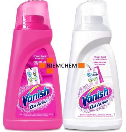 Vanish Oxi Action Pink White Odplamiacz Płyn 2 x 1L PL