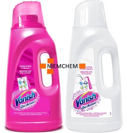 Vanish Oxi Action Pink + White Odplamiacz Płyn 2 x 2L PL